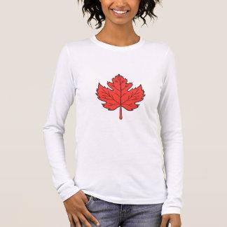 Maple Leaf Drawing Long Sleeve T-Shirt