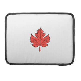 Maple Leaf Drawing Sleeve For MacBooks