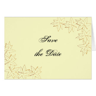 Maple Leaf Edge Wedding Save the Date Announcement