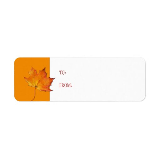 Maple Leaf Gift Tag Label