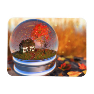 Maple Leaf Globe Flexible Magnet