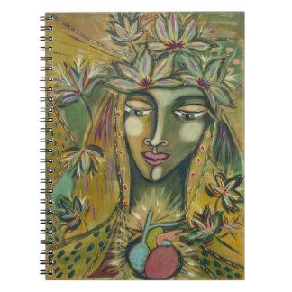 Maple Leaf Goddess Custom Printed Notebook