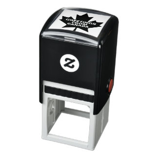 Maple Leaf Greetings From Canada customizable Self-inking Stamp