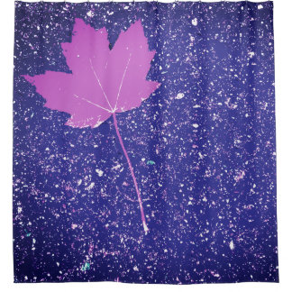Maple Leaf In Night Sky