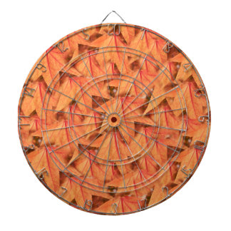 maple leaf in the autumn dartboard