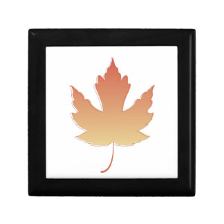 Maple Leaf Keepsake Boxes