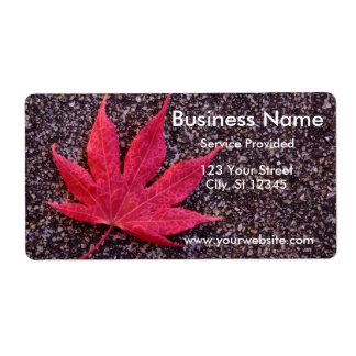 Maple Leaf Label Shipping Label