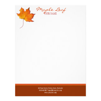 Maple Leaf Letterhead