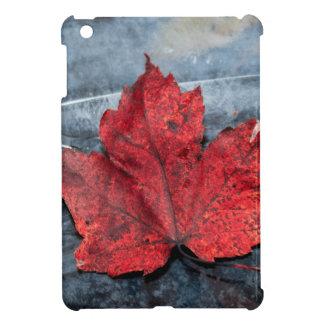 Maple leaf on ice iPad mini cover
