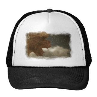 Maple leaf on window trucker hat
