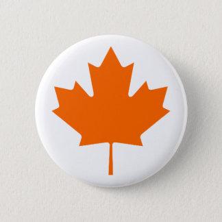 Maple Leaf OrangeBrTransp The MUSEUM Zazzle Gifts 2 Inch Round Button