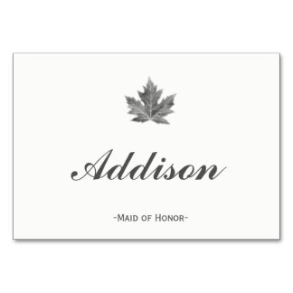 Maple Leaf Place Cards Table Card