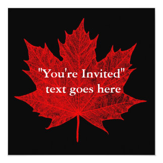 Maple Leaf/Red-Customize Me!-Party Card
