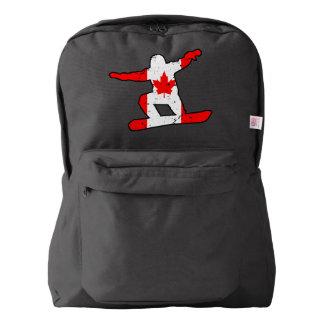 Maple Leaf SNOWBOARDER (blk) Backpack
