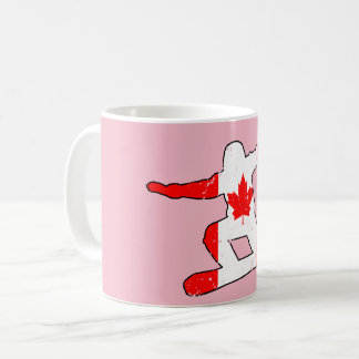 Maple Leaf SNOWBOARDER (blk) Coffee Mug