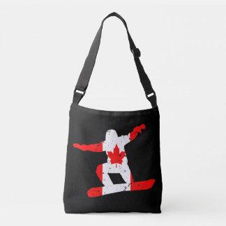 Maple Leaf SNOWBOARDER (blk) Crossbody Bag