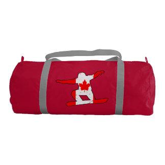 Maple Leaf SNOWBOARDER (blk) Gym Bag