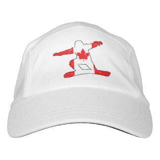 Maple Leaf SNOWBOARDER (blk) Hat