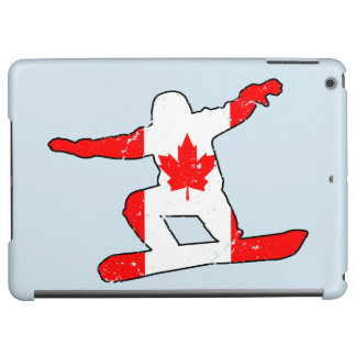Maple Leaf SNOWBOARDER (blk) iPad Air Covers
