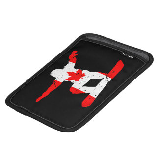 Maple Leaf SNOWBOARDER (blk) iPad Mini Sleeves