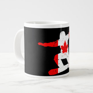 Maple Leaf SNOWBOARDER (blk) Large Coffee Mug