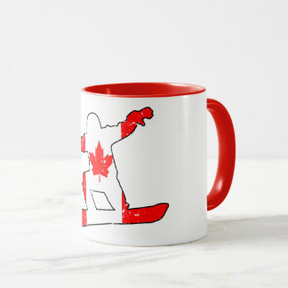 Maple Leaf SNOWBOARDER (blk) Mug