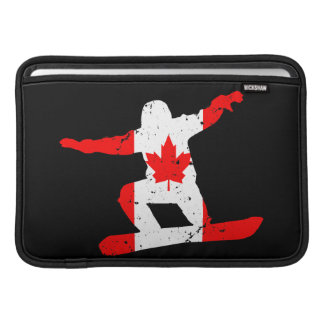 Maple Leaf SNOWBOARDER (blk) Sleeve For MacBook Air