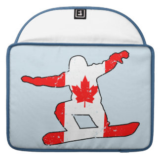 Maple Leaf SNOWBOARDER (blk) Sleeves For MacBook Pro