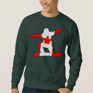 Maple Leaf SNOWBOARDER (blk) Sweatshirt