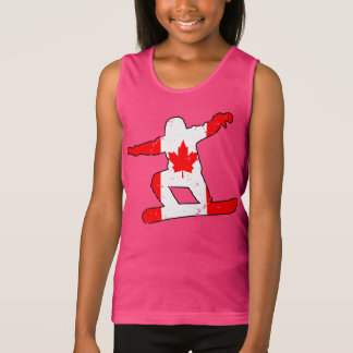 Maple Leaf SNOWBOARDER (blk) Tank Top