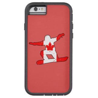 Maple Leaf SNOWBOARDER (blk) Tough Xtreme iPhone 6 Case