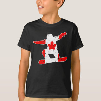 Maple Leaf SNOWBOARDER (wht) T-Shirt