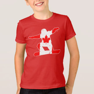 Maple Leaf SNOWBOARDER (wht) T-Shirt