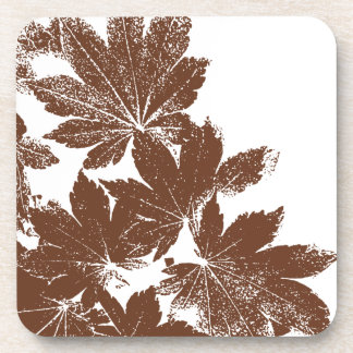 Maple Leaf Stamp Cork Coaster Set