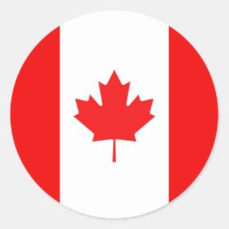 Maple Leaf Symbol Round Sticker