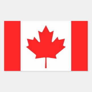 Maple Leaf Symbol Rectangle Sticker