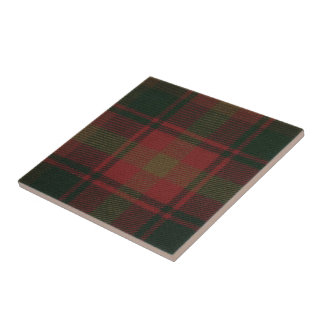 Maple Leaf Tartan Print on Ceramic Tile