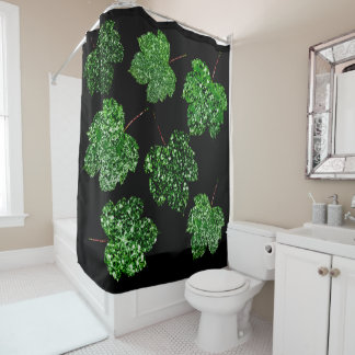Maple Leaf Tropical Cali Green Botanical Black
