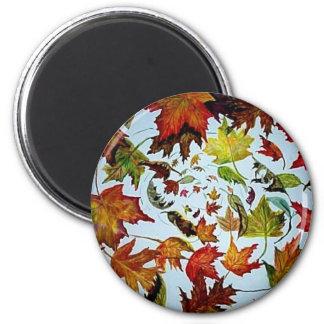 Maple Leaf Vortex painting Magnet