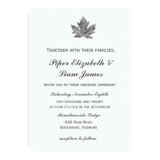 Maple Leaf Wedding Invitation