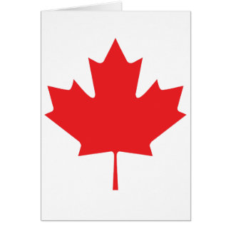 maple leafe card