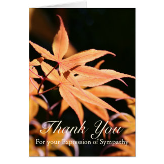 Maple Leaves 2 Sympathy Thank You Note Card