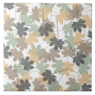 MAPLE LEAVES CERAMIC TILE