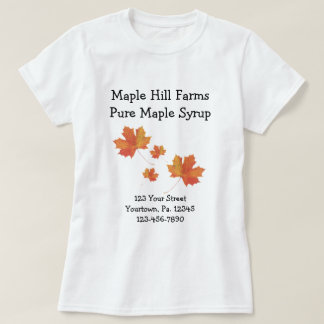 Maple Leaves Custom Business Shirt