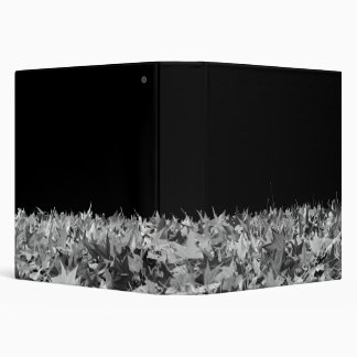 Maple Leaves in Black and White Vinyl Binders