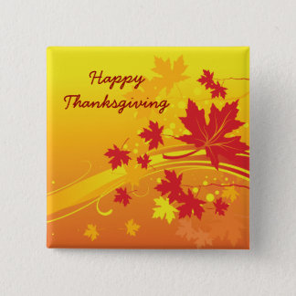 Maple leaves in fall colors custom button