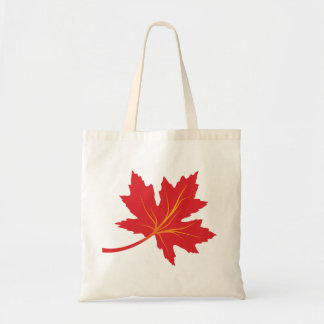 Maple leaves in fall colors custom tote bags
