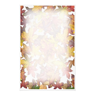 Maple Leaves in Fall Stationery