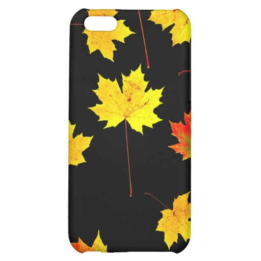 maple leaves in the water case for iPhone 5C