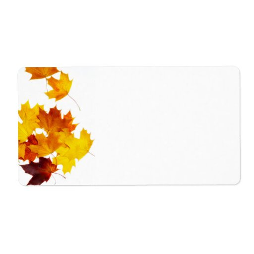 Maple leaves custom shipping labels